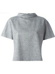 08Sircus Short Sleeve Turtleneck Top Grey