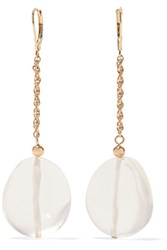 Kenneth Jay Lane Gold Tone Resin Drop Earrings