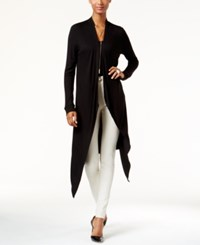 Inc International Concepts Asymmetrical Duster Cardigan Only At Macy's Deep Black