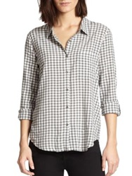Soft Joie Annabella Checked Shirt Porcelain Grey
