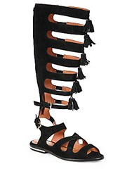 Rebecca Minkoff Summer Suede Gladiator Sandals Black