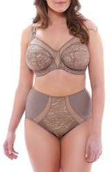 Plus Size Women's Elomi 'Raquel' Lace Briefs Taupe
