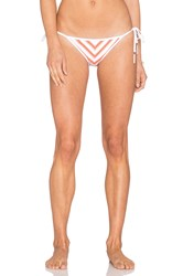 Seafolly Coast To Coast Tie Side Bikini Bottom Orange
