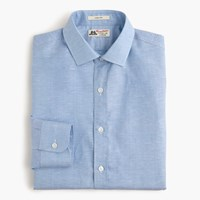 Thomas Mason For J.Crew Ludlow Shirt In Italian Cotton Linen Retro Blue
