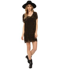 Bb Dakota Milan Burnout Velvet Poncho Dress Black Women's Dress