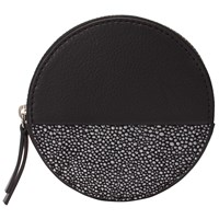 John Lewis Liv Leather Round Coin Purse Black