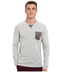 7 Diamonds Cain Long Sleeve Shirt Heather Grey Men's Long Sleeve Pullover Gray