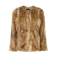 Karen Millen Statement Faux Fur Jacket Camel