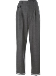 Golden Goose Deluxe Brand High Waist Trousers Grey
