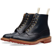 Trickers End. X Tricker's Club Sole Stow Boot Blue