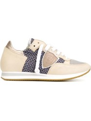 Philippe Model Panelled Sneakers Nude And Neutrals