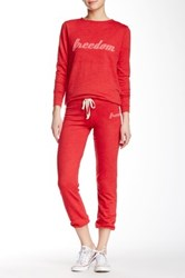 Candc California Margaret Slouchy Sweatpant Red