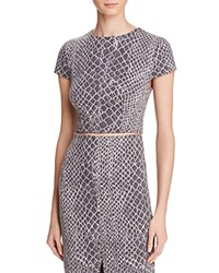 Alice Olivia Latisha Snake Print Crop Top Gray Off White
