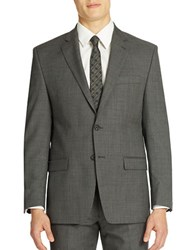 Lauren Ralph Lauren Classic Fit Grey Sharkskin 2 Button Blazer
