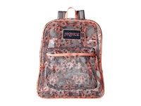 Jansport Mesh Pack Coral Sparkle Pretty Posey Backpack Bags Gray