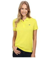 Lacoste Short Sleeve Classic Fit Pique Polo Shirt Lemon Tree Women's Short Sleeve Knit Yellow