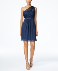 Adrianna Papell One Shoulder Embellished Dress Midnight