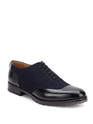Valentino Lace Up Leather Dress Shoes Navy