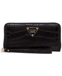 Guess Rhoda Large Zip Wallet Black