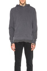 John Elliott Oversize Cropped Hoodie In Black