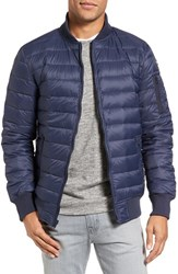 Schott Nyc Men's Reversible Down Bomber Jacket Navy