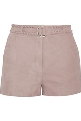 Elizabeth And James Lalette Belted Suede Shorts Brown