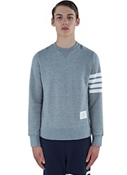 Thom Browne 4 Bar Crew Neck Sweater Grey