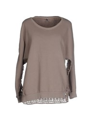 European Culture Topwear Sweatshirts Women Dove Grey