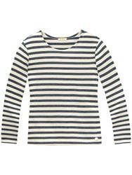 Long Sleeve Stripe T Shirt Navy
