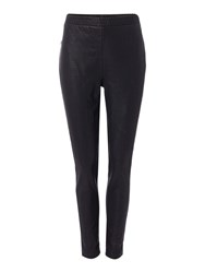 Biba Croc Faux Leather And Ponti Trousers Black