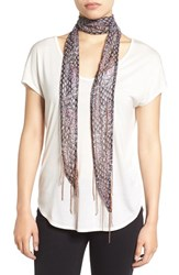 Collection Xiix Women's Paisley Print Skinny Scarf Bold Sangria