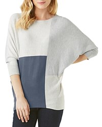 Phase Eight Color Block Becca Batwing Sweater Slate