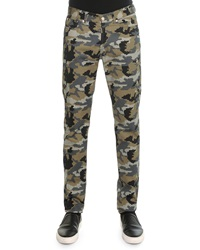 Givenchy Camo Printed Denim Pants Khaki
