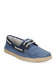 Gbx Dore Two Eye Checked Boat Shoes Blue
