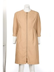 Tomas Maier Front Zip Dress Nude And Neutrals