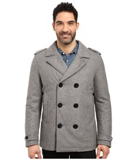 Nautica Military Peacoat Grey Heather Men's Coat Gray