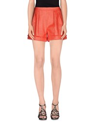 Space Style Concept Trousers Shorts Women Orange