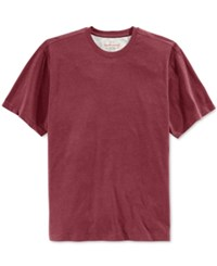 Weatherproof Men's Big And Tall Ryland Crew Neck Short Sleeve Shirt Only At Macy's Biking Red Heathered
