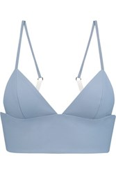 Alexander Wang T By Leather Bralette Tomato Red