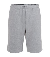 Hugo Boss Green Henri Logo Band Jersey Shorts Male Light Grey