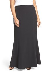 Adrianna Papell Plus Size Women's Stretch Crepe Maxi Skirt