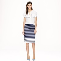 J.Crew Petite No. 2 Pencil Skirt In Colorblock Stripe