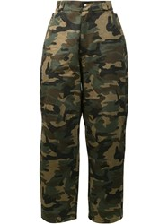 Hood By Air Camouflage Print Trousers Green