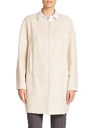 Piazza Sempione Llama Wool And Wool Coat Beige