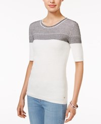 Tommy Hilfiger Ruthie Colorblocked Sweater Only At Macy's Snow White