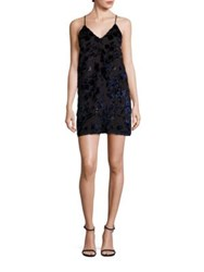 Alice Olivia Fierra Floral Burnout Slip Dress Navy Multi