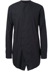Julius Collarless Shirt Black
