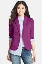 Olivia Moon Ruched Sleeve Jacket Purple