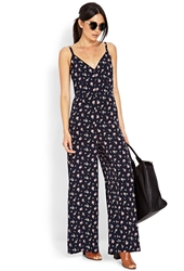 Forever 21 Dainty Floral Jumpsuit Midnight Pink