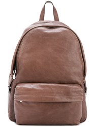 Brunello Cucinelli Front Pocket Backpack Brown
